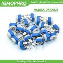 20 pçs trimmer potenciômetro rm065 RM-065 2k ohm 202 dip trimmer resistores ajustáveis variáveis RM065-202 igmopnrq