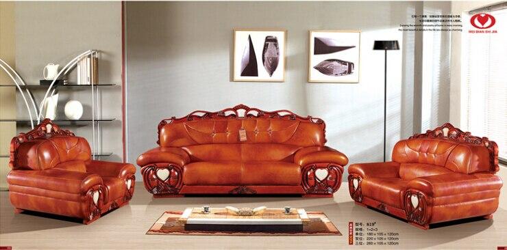 Купить с кэшбэком living room modern leather sofa  European sectional sofa 9567