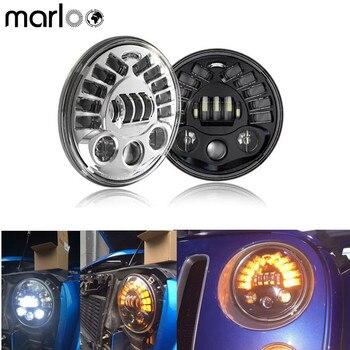 Marloo 2X 7inch LED Headlight Left Right Turn Signal DRL For Jeep Wrangler JK TJ Sahara Rubicon Freedom Dragon Edition Unlimited