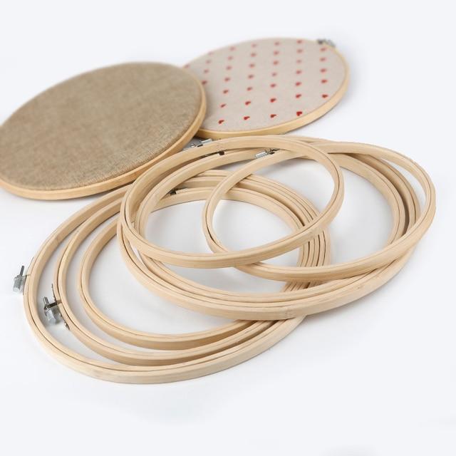 13-26 cm Houten Frame Hoepel Cirkel Borduurwerk Ronde Machine Bamboe Voor Kruissteek Hand DIY Huishoudelijke Craft Naaien needwork Tool