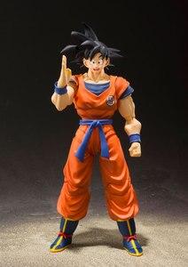 "Image 5 - ""Dragon Ball Z"" 100% Originele Bandai Tamashii Naties S.H. Figuarts/Shf Action Figure Zoon Gokou Kaio Ken"