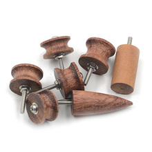 7 STÜCKE Neue Leder Burnisher Slicker Holzkante Handwerk Werkzeuge Set Ebenholz Multi-größe Kit Pointe