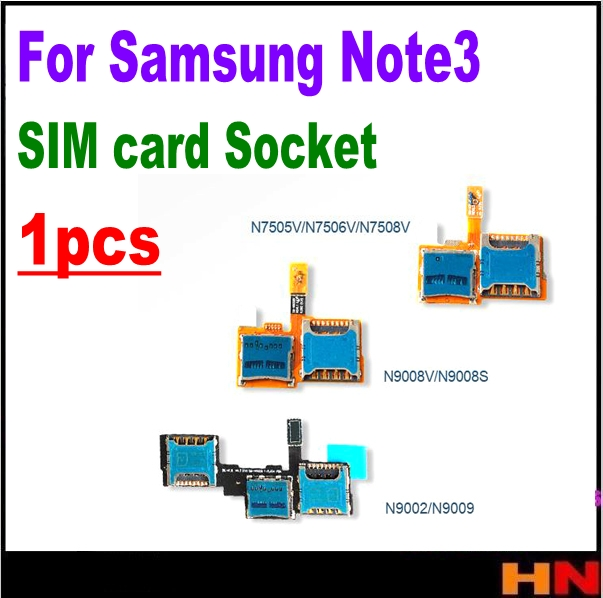 1pcs For Samsung Note3 N7508v N9008v/s N9009 N9002 Sim Card Slot Deck Plate Sim Memory Card Flash With Tracking Number Mobile Phone Flex Cables