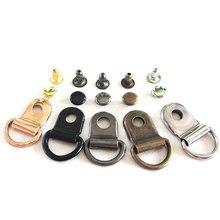 10 unids/lote D anillo hebilla senderismo escalada botas reparación práctica hebillas DIY bolsas para manualidades accesorios decorativos de cuero