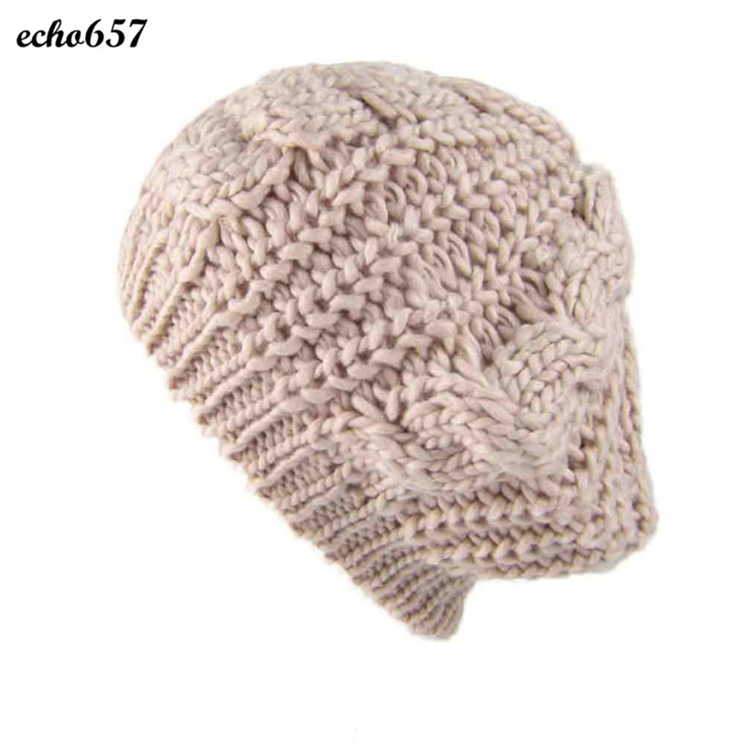 Hot Sale Women Caps Echo657 New Fashion Women's Lady Braided Baggy Beanie Crochet Warm Winter Hat Cap Wool Knitted Dec 22 рубашка mango man mango man he002emtof38