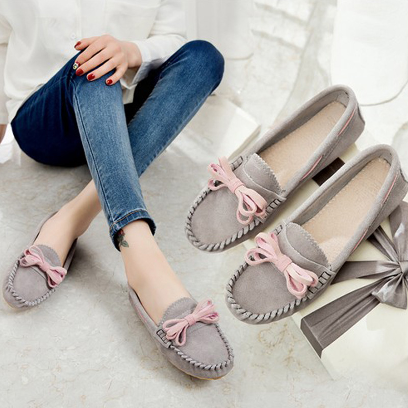 UBZ Spring and autumn 2017 New women shoes Genuine leather Casual Flats Oxfords shoes all-match flat shoes shallow tide Pigskin 2017 new autumn winter men leather shoes casual all match british tide fashion shoes breathable sneaker shoes