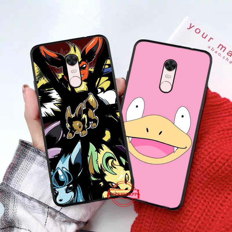 Dibujos animados de pokemon eevee pika funda de silicona para Xiaomi Redmi 4A 4X 5A 5 Plus S2 6 6A 7 7A 8A K20 Pro ir