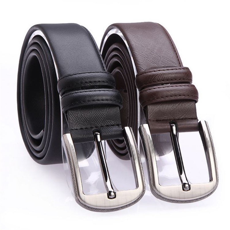 Mantieqingway Designer 120cm Cowskin Belt for Men Black Waist Belt Casual Male Jeans Pin Buckle Vintage Waistband Belts Accesory