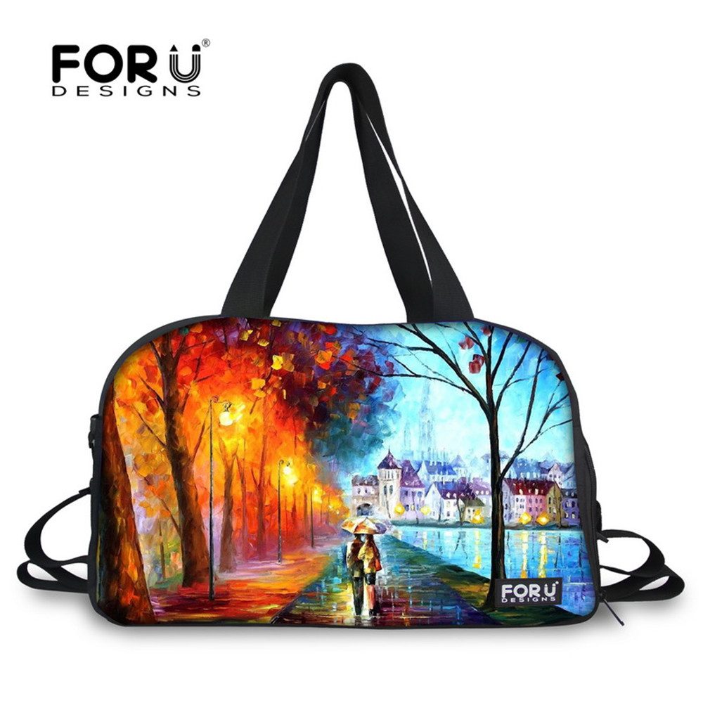 FORUDESIGNS 3D Wallpapers Printing Sport Bag for Women Outdoor Gym Fitness Bag Exercise Ladies Yoga Bag Nylon Duffle Bag Bolsa