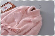 Genuine mink cashmere sweater women cardigan knitted jacket