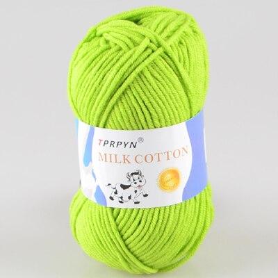 TPRPYN 1 шт. = 50 г пряжа для вязания крючком из молочного хлопка, мягкая теплая Детская Пряжа для ручного вязания - Цвет: 22 grass green