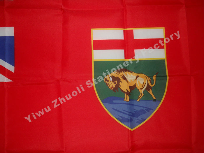 Manitoba Flag 150X90cm (3x5FT) 120g 100D ოფისი / - სახლის დეკორაცია - ფოტო 2