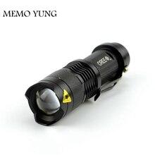 4 шт./партия CREE Q5 тактический фонарь 7 Вт Мощный мини масштабируемый светодиодный фонарик 3 режима Водонепроницаемый фонарь для кемпинга