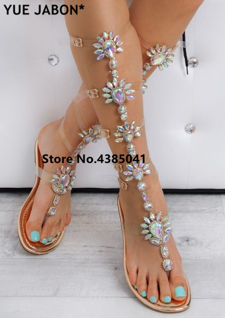 Heel Gold Buckle Yue Flat Sandals Trendy Jabon Straps Woman Design deCxWorB