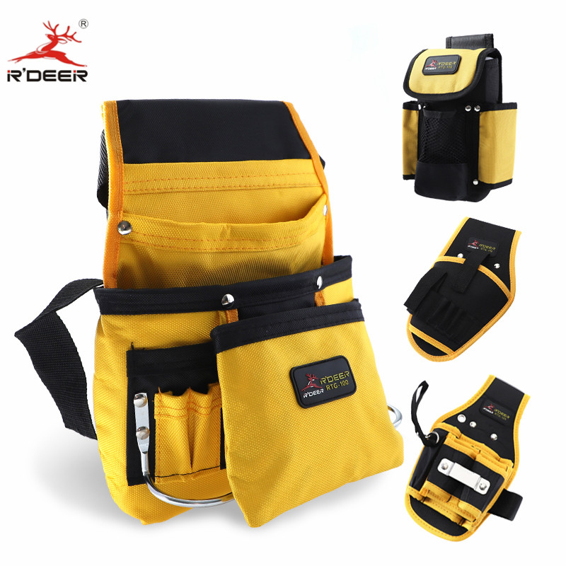 Tool Belt Oxford Cloth Waist Tool Bag Electrician Tool Holder Belt With Multiple Pockets