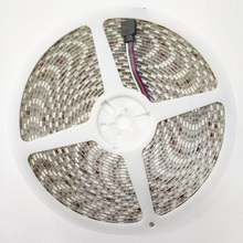 10m/lot RGB LED Strip Light 5050 SMD 600LED Flexible Not waterproof 10mm width 60 LED/m Bare Board 4pin FemaleConnector