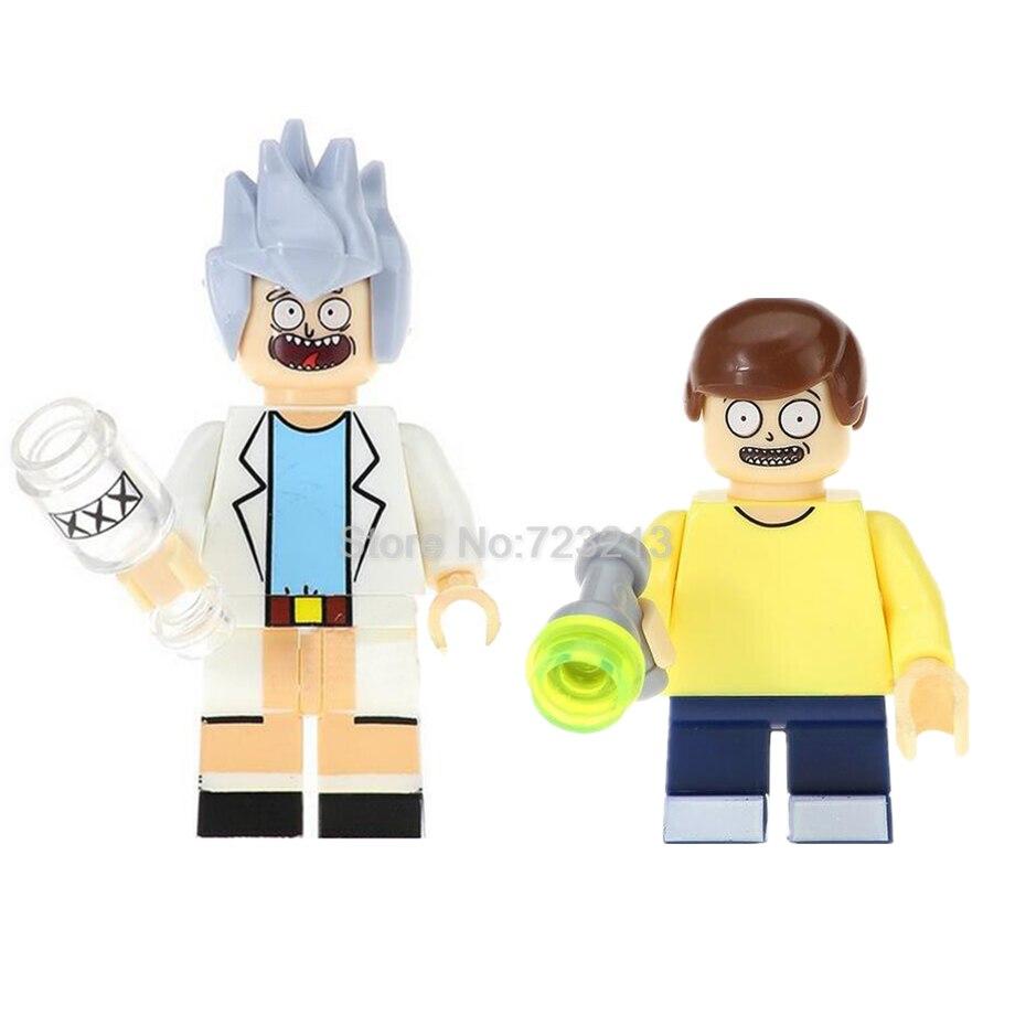 2 pc Rick and Morty Custom Minifigure USA Seller