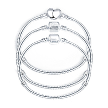 2016 Hot Silver Love Snake Chain Fit Charm Bracelet & Bangle Jewelry Gift For Men Women 16-21cm