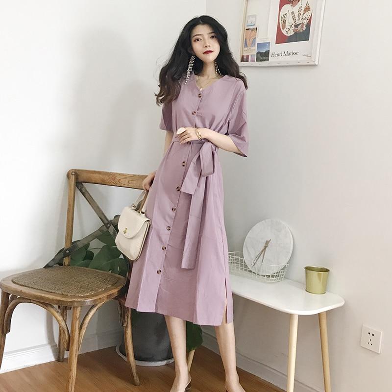 Womens Dresses Ins Lady Kawaii Ulzzang Sweet Lace Collar Dress Female Vintage Harajuku Punk Clothes For Women Beach Boho Buy Now Women's Clothing