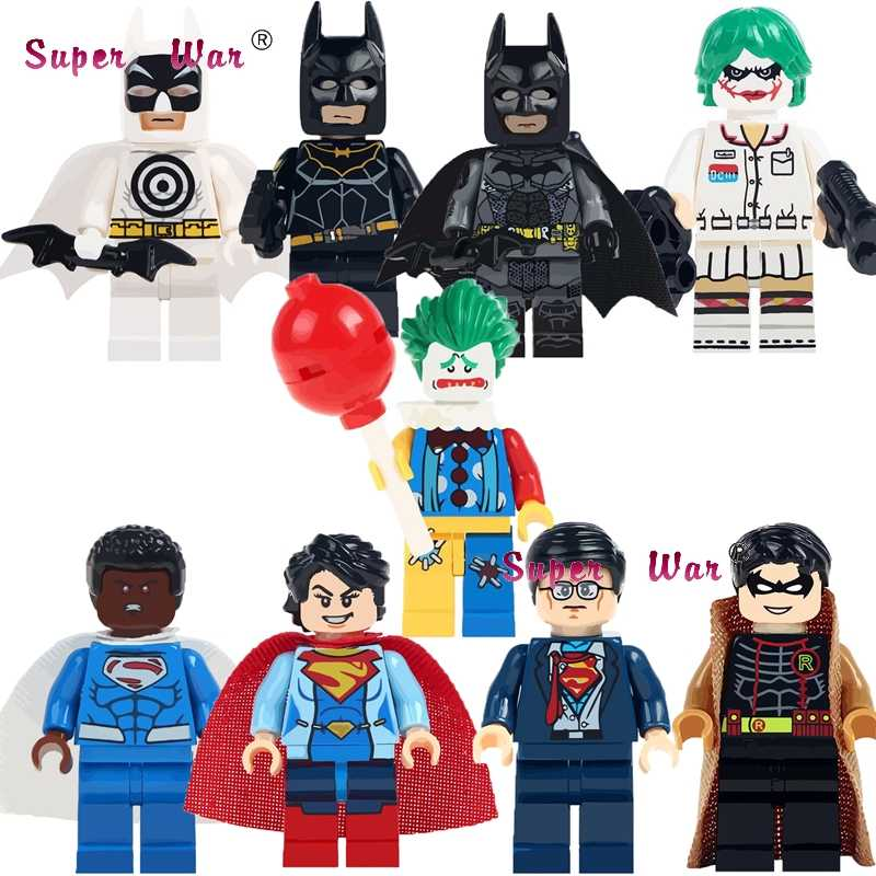 Tunggal Super Hero Superman Clark Kent Robin Bullseye Batman Blok Bangunan Model Mainan untuk Anak Kit
