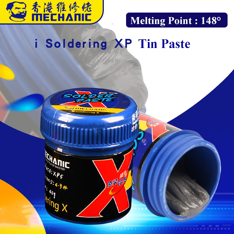 MECHANIC LEAD-FREE BGA Soldering Tin Paste For IPhone X XS XR XS MAX Low Temperature 148 Degree Solder Paste Welding Paste Flux