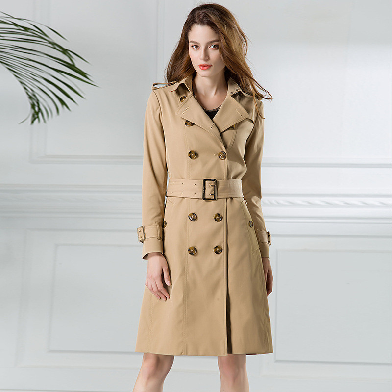High quality  trench coat Women 2018 Spring Autumn Windbreaker fashion waterproof coat Plus size  trench female top IOQRCJV H310-in Trench from Women's Clothing    2