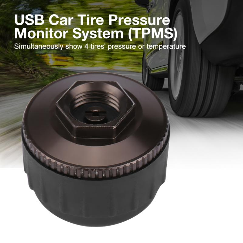 USB Tire Pressure Monitor System TPMS External Sensors for Android Car Navigation Display-in Tire Pressure Alarm from Automobiles & Motorcycles    1