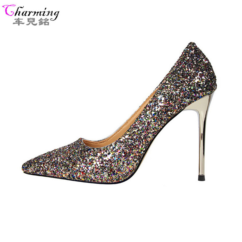 aliexpress buy 2016 pumps colorful glitter