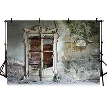 Backdrop photography Old Deserted House Wall Door Brick Wall photo Backdrop Children Portrait Photographic Backdrop Photo Studio цена в Москве и Питере