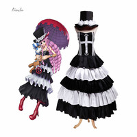 Ainclu Halloween Costumes For Women Hot Anime Costume One Piece Ghost Princess Dress Perona Cosplay Costume Dress With Hat