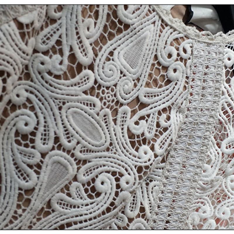 À Robe Vocation Blanc 2018 Ivoire Qualité Vacances Longue Dentelle Manches Longues Automne Haute wvaXtqx