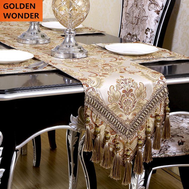 lujo europeo moderno minimalista camino de mesa bandera de mesa manteles caminos de mesa bordados cena