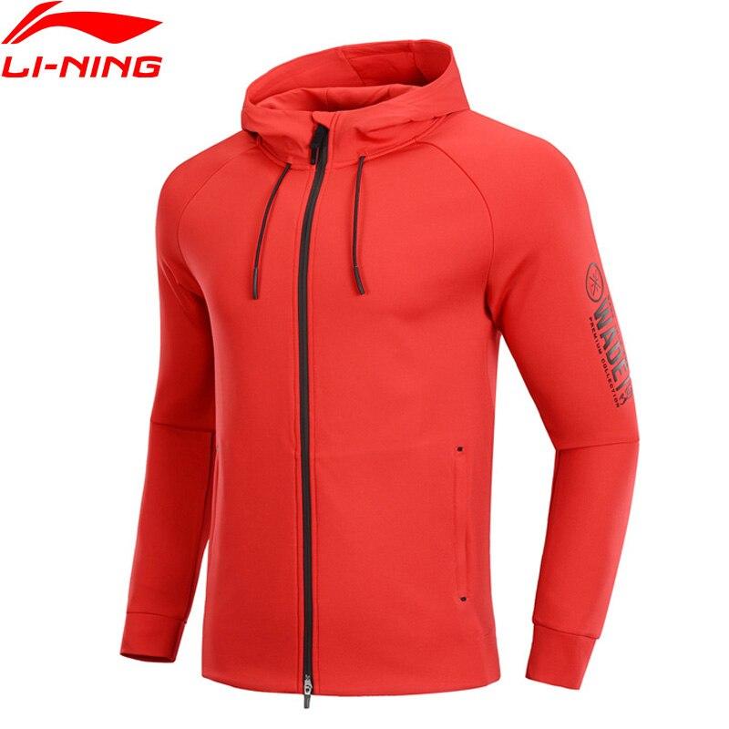 Li-Ning Men Wade Sport Sweater 48% Polyester 42% Cotton 10% Spandex Regular Fit LiNing Li Ning Sport Hoodie Tops AWDP137 MWW1574