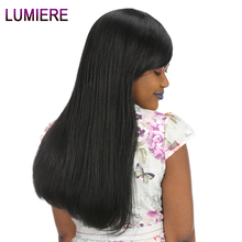 Lumiere Hair Straight Brazilian Hair Weave Bundles Non-Remy Hair 1 Bundle Only Natural Black 100% Human Hair Weave Bundles
