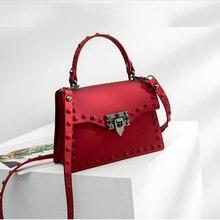 pvc bags for women's handbags 2018 luxury handbags women bags designer rivet shoulder bags female flap crossbody sac main femme