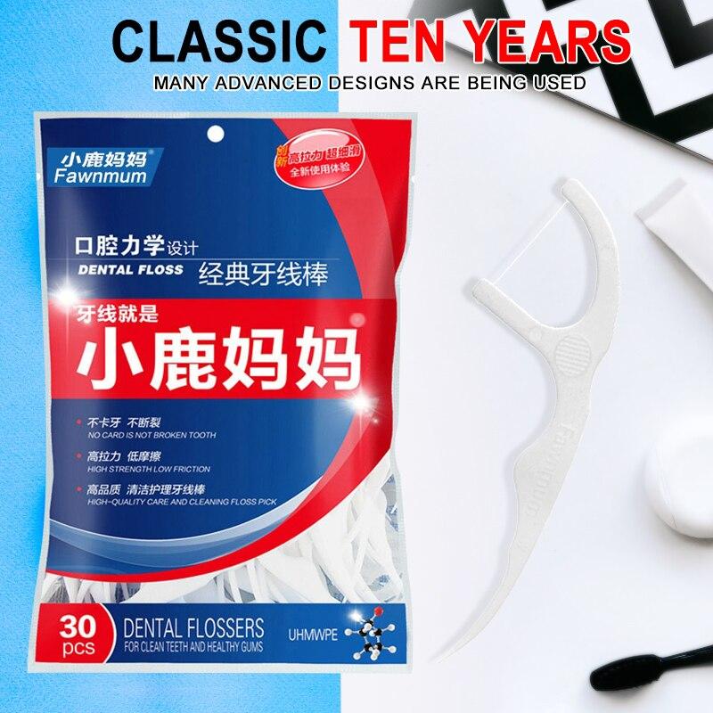 30 Stücke Zahnseide Pick Zahnstocher Interdentalbürste Reiniger Zahn Pick Flosser Dental Draht Oral Care Teeth Bleaching Sauber Rohstoffe Sind Ohne EinschräNkung VerfüGbar