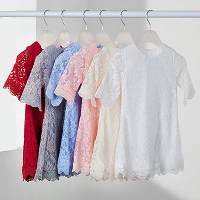 Ana Daugter Dress 2019 Yeni Moda Yaz Payız Dantel paltarları - Uşaq geyimləri - Fotoqrafiya 2