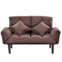 Modern Armchair Sofa Bed 5 Angle Adjustable Reclining Back And Arm Living Room Furniture Home Small