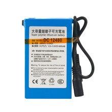 Capacidade de Tamanho Bateria para Câmera de Cftv Dc12v 4800 MAH Super Grande Compacto USO Durável Bateria Recarregável Li-ion