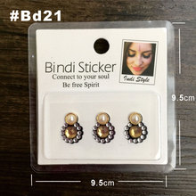BD21 Round Fake Pearl Style Rhinestone Gem Bindi Sticker Body Jewelry Bindis