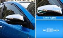 Lapetus Door Wing Rearview Mirror Case Side Decoration Frame Cover Trim Fit For Toyota Highlander KLUGER 2017 2018 2019
