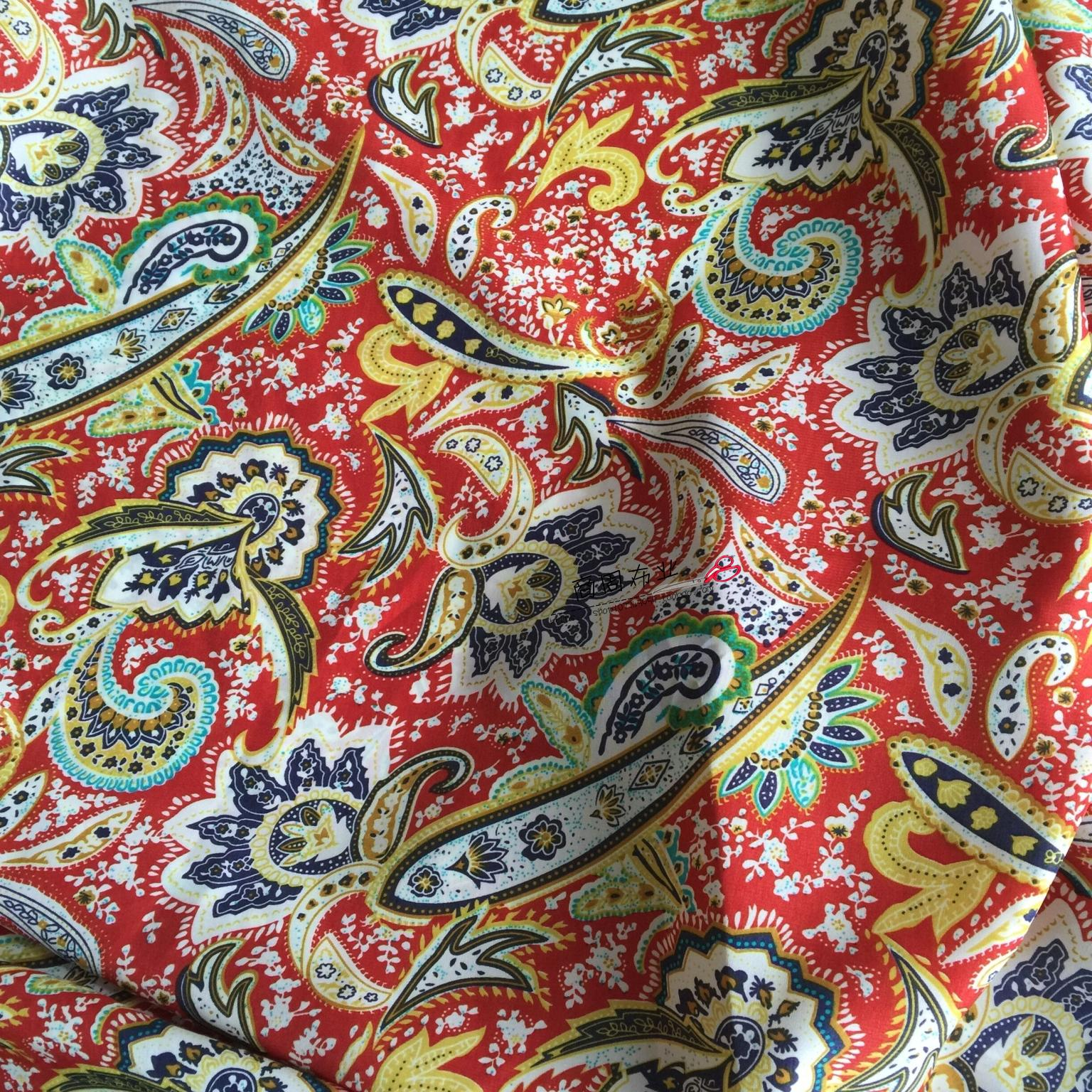 Paisley print korea cashmere chiffon fabric impervious for Apparel fabric