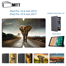 Elephant high quality Leather Painted Cover for Apple iPad 12.9 tablet