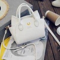 50pcs Lot Black White Sailor Moon Luna Hand Bag Samantha Vega Handbag Cat Ear Shoulder Bag