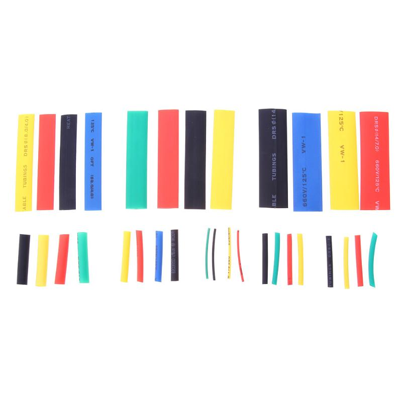 328pcs Heat Shrink Tubing Polyolefin Assorted Wrap Wire Cable Sleeve Shrinkable Wire Cable Sleeve Tubes Kit