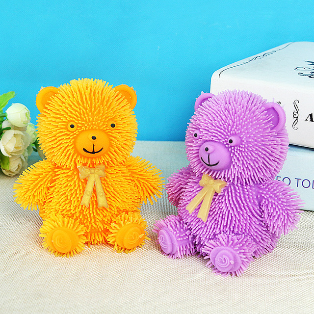 Hot Cute Glowing Hedgehog Ball Children s Interactive Puzzle Toy for boys Tie Bear Safe Soft
