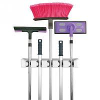 Garden Kitchen Multi Purpose MOP Broom Holder Wall Mounted Support Organizer Storage Hanger Rack Tool