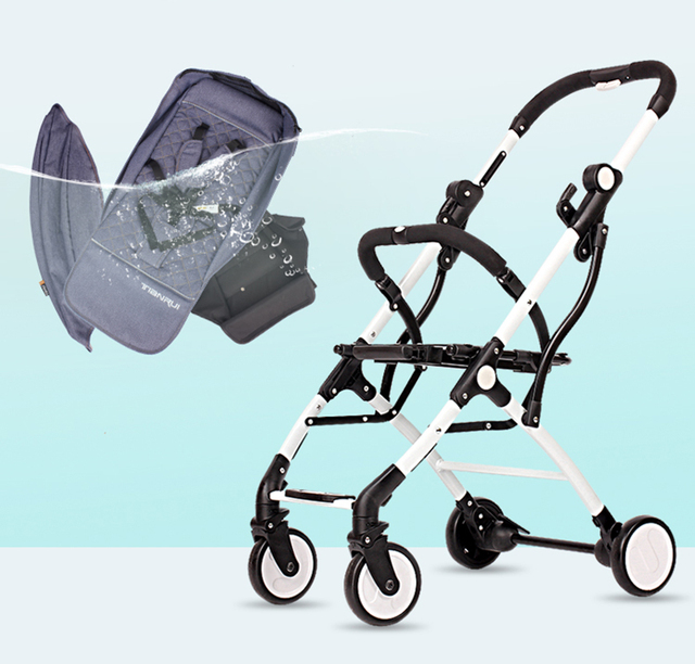 2 in 1 Lightweight Folding Baby Stroller with Free Gifts – Black