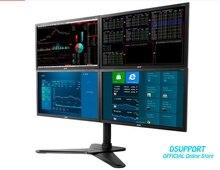Full Motion 4 screen Monitor Holder Desktop Stand Retractable LED Display Mounting Bracket D2Q