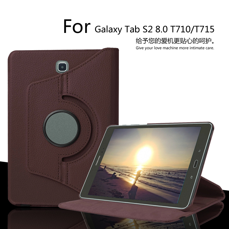 For Samsung Galaxy Tab S2 8.0 SM-T710/T715 360 Degree Rotating  Case Leather Cover for Galaxy Tab S2 8.0  Protective Case аксессуар чехол samsung galaxy tab a 7 sm t285 sm t280 it baggage мультистенд black itssgta74 1